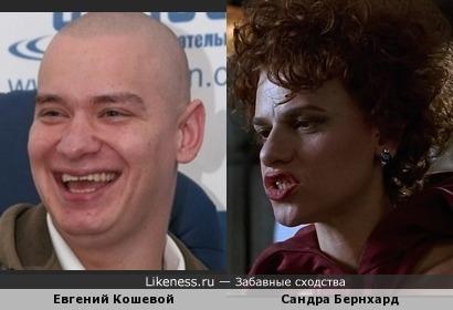 Евгений Кошевой похож на Сандру Бернхард