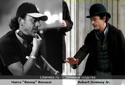 Роберт Дауни Мл. похож на Бенни Бенасси