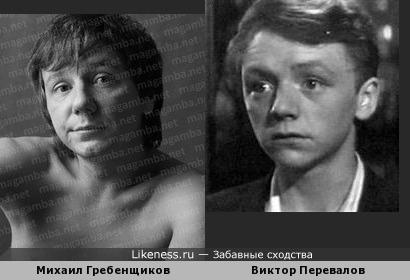 певец Михаил Гребенщиков похож на актера Виктора Перевалова (Марья искусница)