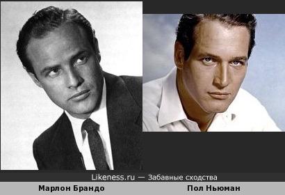 Марлон Брандо и Пол Нюьман ещё одно сравнение