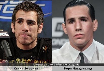 бойцы UFC как близнецы Кенни Флориан и Рори Макдональд