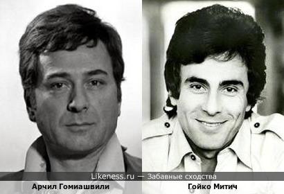 Арчил Гомиашвили и Гойко Митич