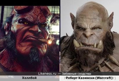 Хеллбой и Роберт Казински (Warcraft)