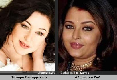 Тамара Гвердцители и Айшвария Рай