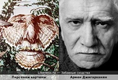 Персонаж картины Дональда Раста и Армен Джигарханян