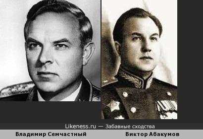 Владимир Семичастный похож на Виктора Абакумова