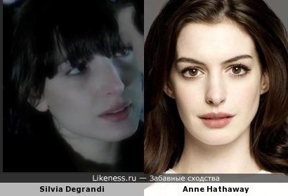 Девушка из клипа port-royal и Энн Хэтэуэй