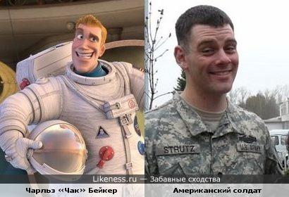 """Солдат похож на астронавта из """"Планеты 51"""""""