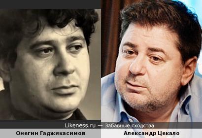 Александр Цекало и Онегин Гаджикасимов