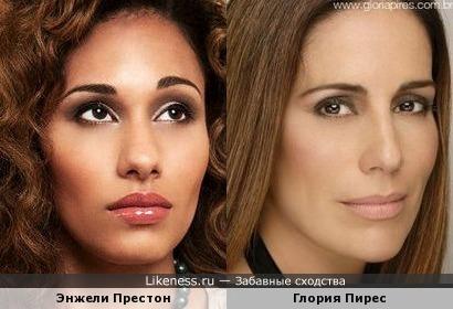 Энжели Престон и Глория Пирес