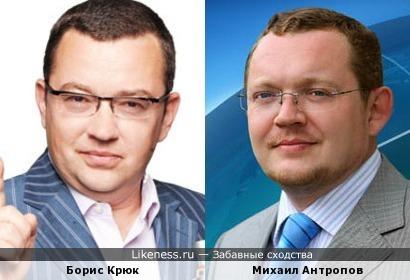 Борис Крюк и Михаил Антропов (корреспондет НТВ)