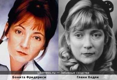 Бонита Фридериси и Гленн Хедли