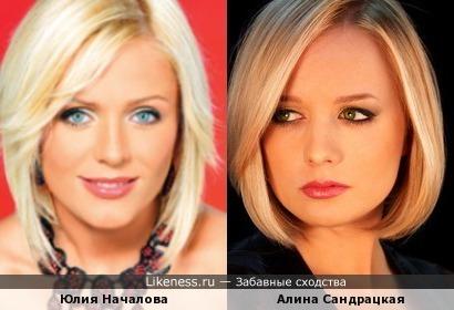 Юлия Началова и Алина Сандрацкая