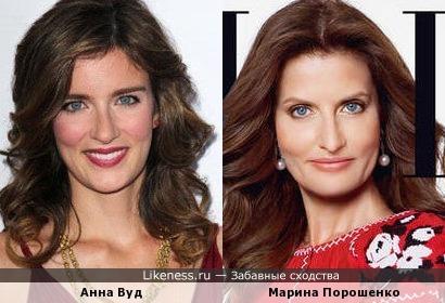 Анна Вуд и Марина Порошенко
