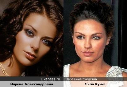 Эти актрисы похожи чертами лица. Их вроде еще не сравнивали)