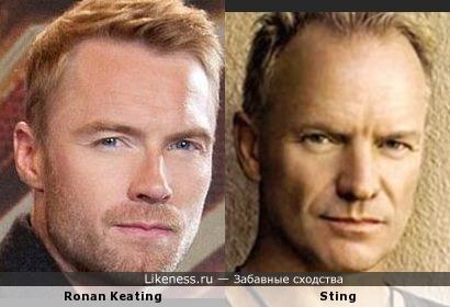 Ronan Keating похож на Sting'а