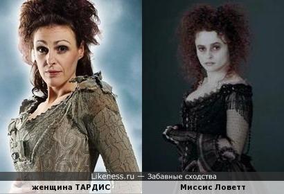 Сюранна Джоунс в роли ТАРДИС похожа на Хелену Бонэм Картер в роли Миссис Ловетт