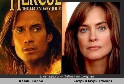 Катрин Мэри Стюарт похожа на Кевина Сорбо