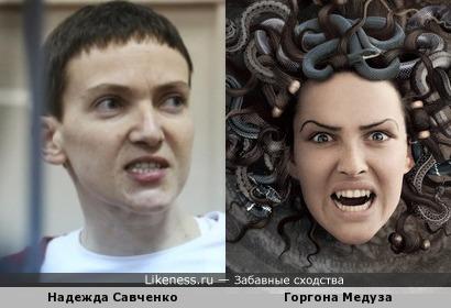 Надежда Савченко похожа на Горгону Медузу