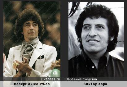 Советский Эстрадный Идол Валерий Леонтьев всегда казался мне похожим на Чилийского Барда и Борца за Свободу Виктора Хару