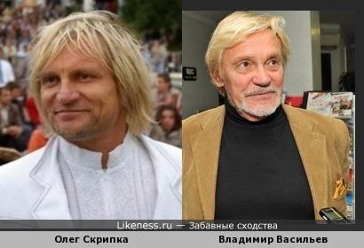 Олег Скрипка похож на Хореографа Владимира Васильева