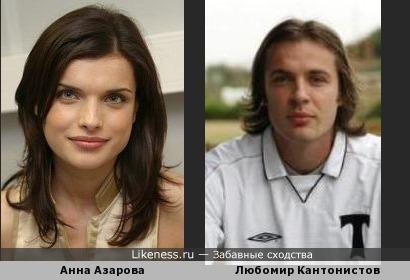 Анна Азарова и Любомир Кантонистов похожи!