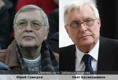 Юрий Севидов и Олег Басилашвили