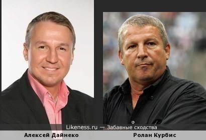 Актёр Алксей Дайнеко похож на бывшего тренера Алании