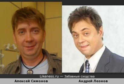 Актёры Алексей Симонов и Андрей Леонов похожи