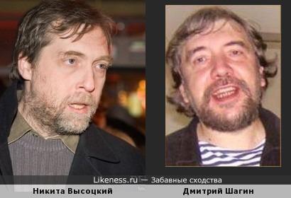 Никита Высоцкий похож на Дмитрия Шагина