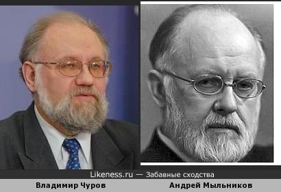 Владимир Чуров похож на Андрея Мыльникова