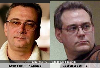 Константин Меладзе похож на Сергея Доренко