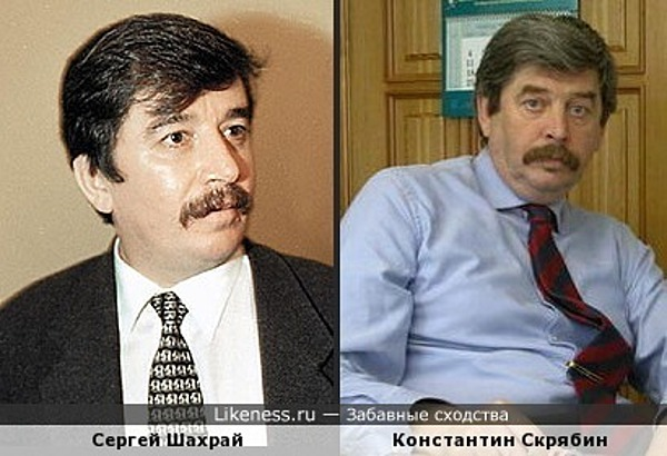 Сергей Шахрай похож на Константина Скрябина