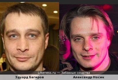 Эдуард Багиров и Александр Носик похожи
