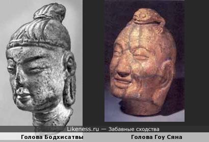 Голова Бодхисатвы похожа на Голоу Гоу Сяна