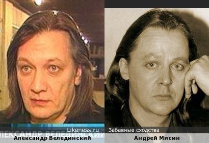 Александр Велединский похож на Андрея Мисина