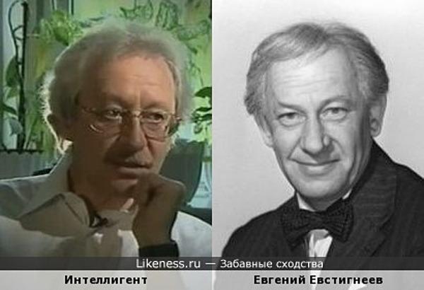 Какой-то человек(возможно известный) похож на Евгения Евстигнеева