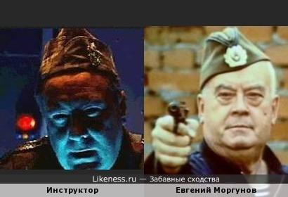 Инструктор из компьютерной игры похож на Евгения Моргунова