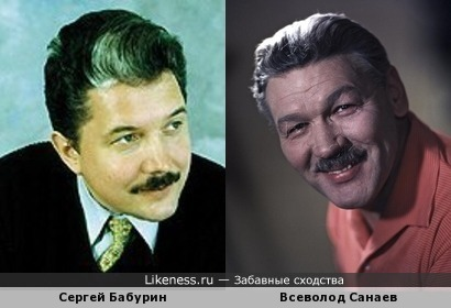 Сергей Бабурин здесь напоминает Всеволода Санаева