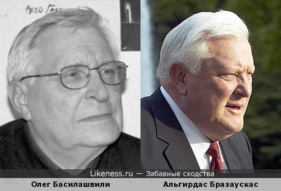 Актёр БДТ похож на бывшего президента Литвы