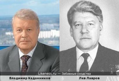 Владимир Каданников похож на Льва Лаврова