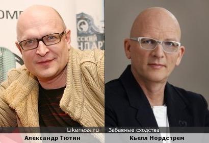 Российский актёр Александр Тютин похож на Швецкого специалиста по теории управления Кьелла Нордстрема