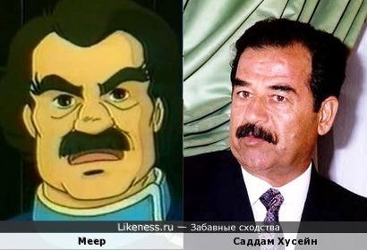 Меер похож на Саддама Хусейна