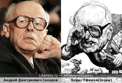 Андрей Дмитриевич Сахаров напомнил Бориса Ефимова на шарже