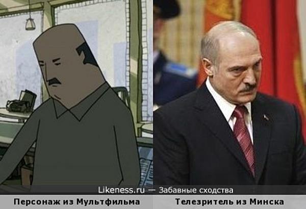 Персонаж мультфильма No Robots напоминает Александра Лукашенко