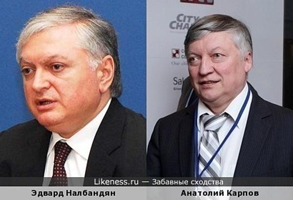 Эдвард Налбандян похож на Анатолия Карпова