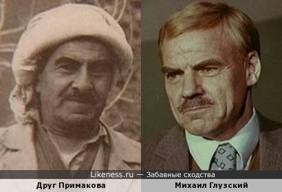 Друг дипломата Евгения Максимовича Примакова напоминает Михаила Ивановича Глузского!