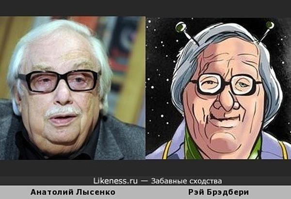 Основатель программы Взгляд Анантолий Лысенко напоминает писателя-фантаста Рэя Брэдбери на сюрреалистическом шарже