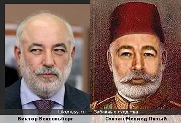 Виктор Вексельберг похож на Султана Мехмеда Пятого