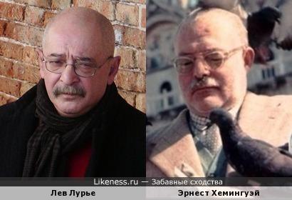 Петербурговед Лев Лурье похож на писателя Эрнеста Хемингуэя